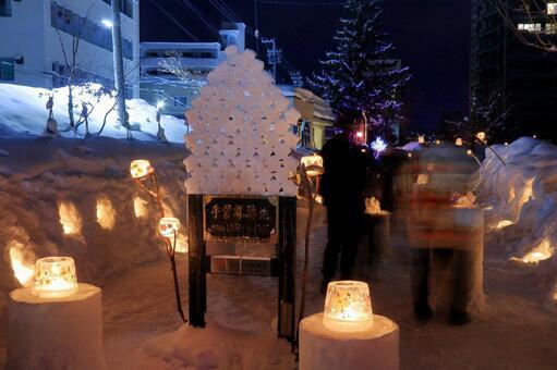 The 20th Otaru snow light path 1