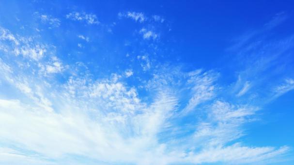 Sky Sky Background Blue Sky Sky and Clouds Autumn Sky Autumn Sky Spreading Sky Blue White Dynamic