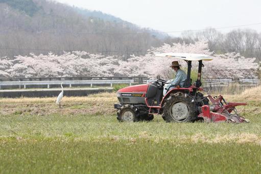 밭을 경작 트랙터 2