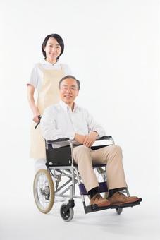 Men and nurses on a wheelchair 36