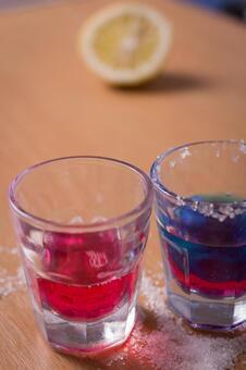 饮料,柠檬2的两种颜色