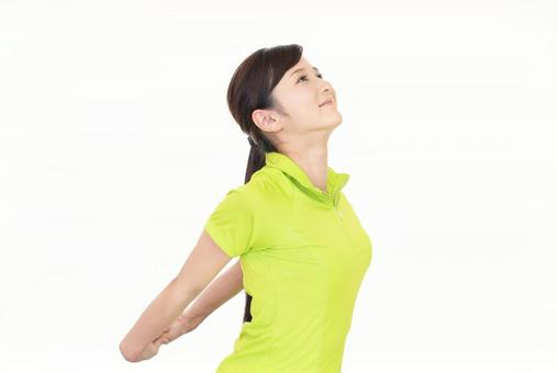 Stretch women exercise
