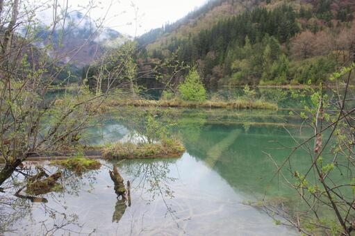 China 1 Scenery said to be beautiful Jiuzhaigou (Chengdu suburbs)