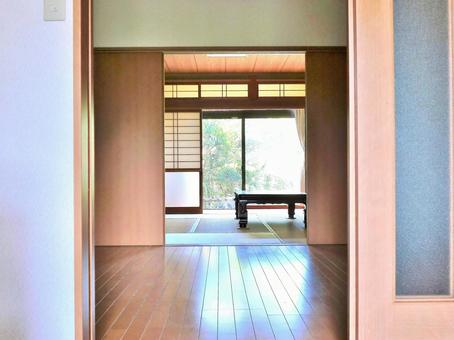 Japanese style room seen from the entrance