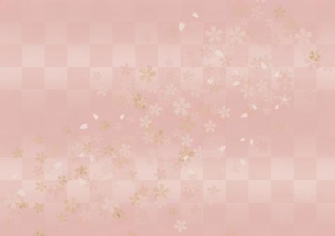 Sakura pattern background _ soft