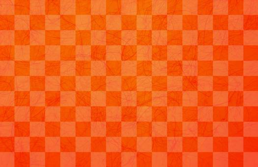 Checkered pattern Japanese paper red