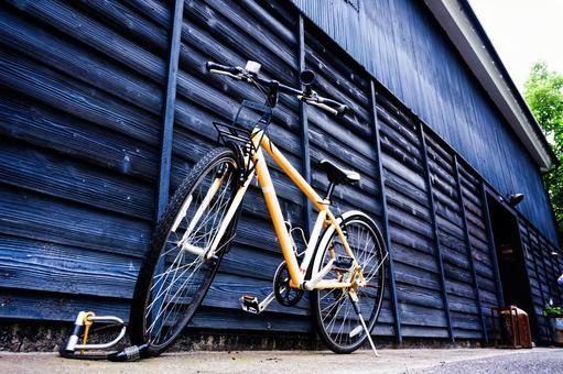 자전거 도로 자전거 목조 건축