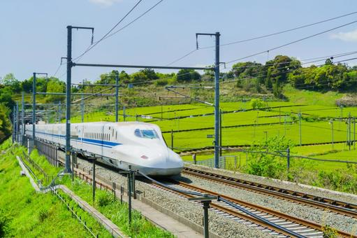 Tea garden and Shinkansen
