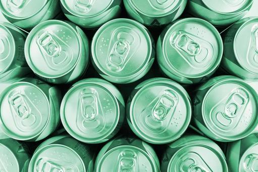 캔 맥주 녹색