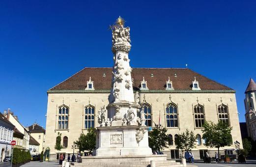 삼위 일체 광장, 부다페스트, 헝가리.