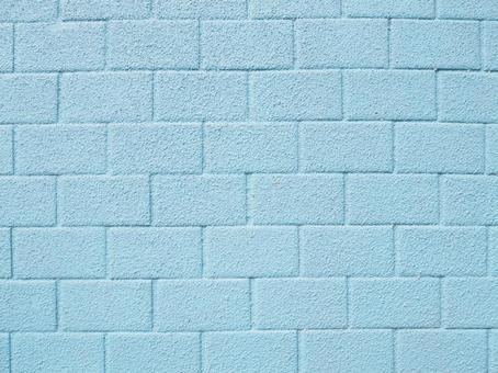 Light blue brick wall background material texture