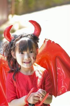 악마의 모습을 한 소녀