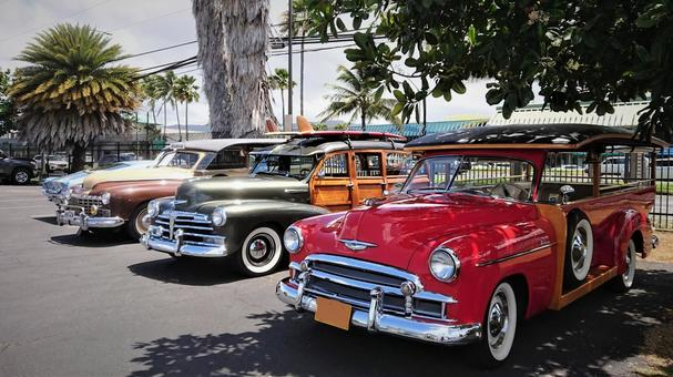 Classic Car in Hawaii
