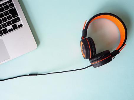 PC and headphones