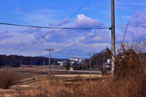 Rural scenery and Mt. Tsukuba