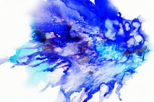 Alcohol ink art_sea image