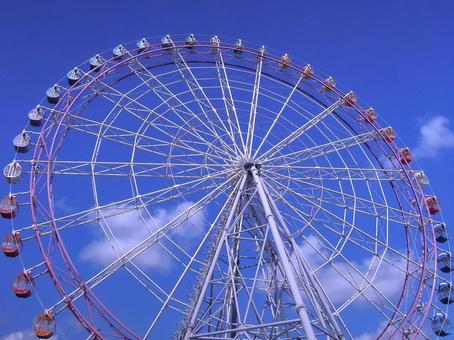Blue sky and Ferris Wheel 2