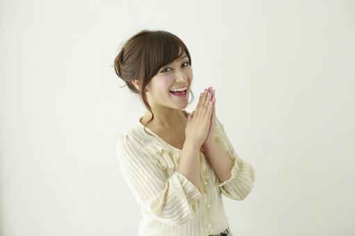 Woman rejoicing 2