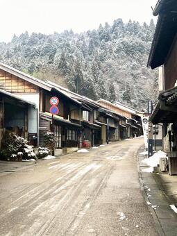 겨울 마을