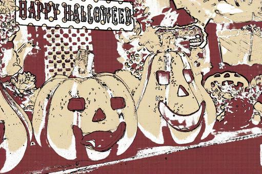 Halloween pumpkin 9 cartoon style