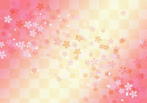 樱桃图案背景_桃子的颜色