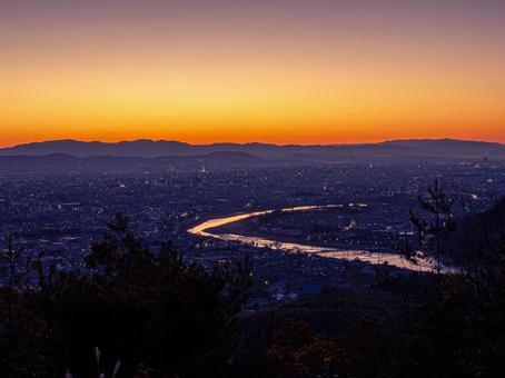 아라시야마의 새벽 풍경