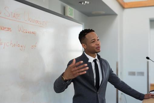 Black men giving a speech 8
