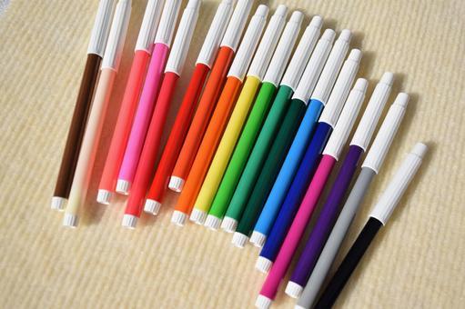 정렬 컬러 펜