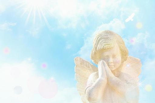 天使提供祈禱