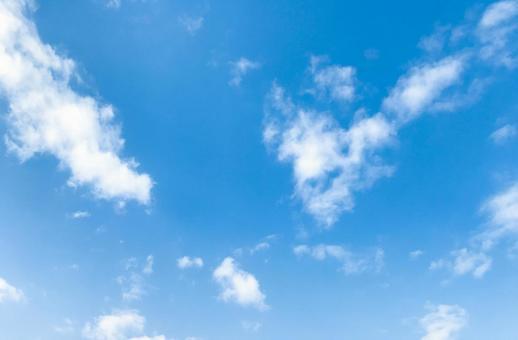Bright blue sky image