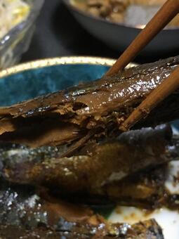 pacific saury saury autumn sword fish boiled kabayaki canned knob