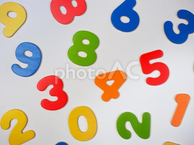 カラフルな数字の写真