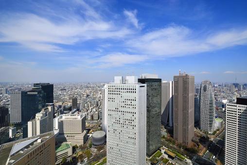 High-rise building group in Shinjuku