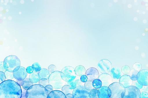 水彩の水玉の背景005