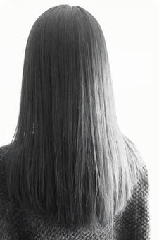 여성의 머리 흑백