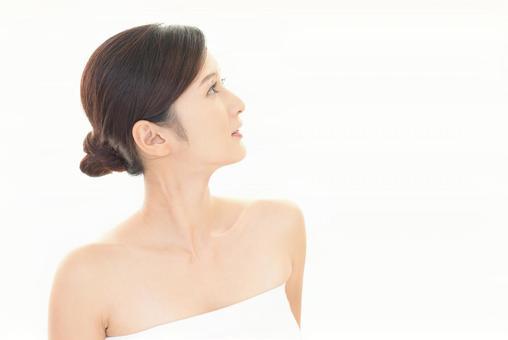 Female beauty skin care image