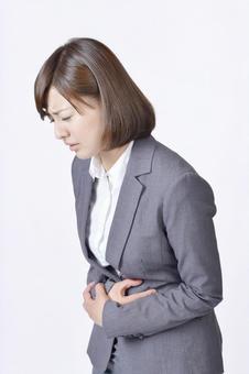 A stomachache woman