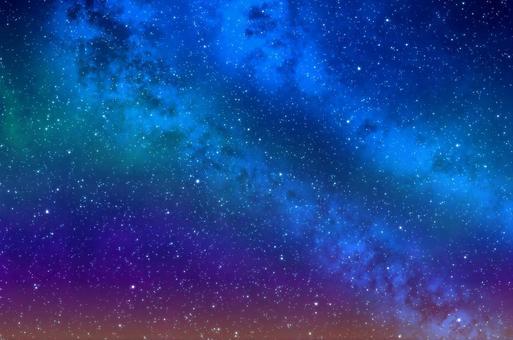 多彩的星空圖像背景