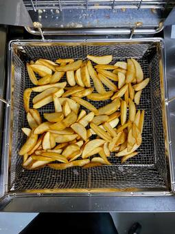 Freshly fried potatoes