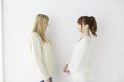 Female friend Foreigner and Japanese 30