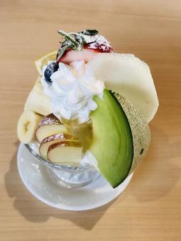 과일 파르페 디저트 스위트 음식