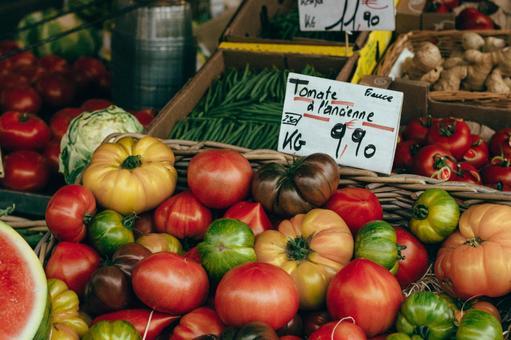 야채 시장