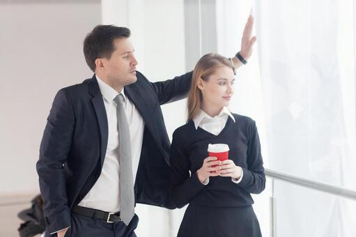 Business team to stand up and talk 9