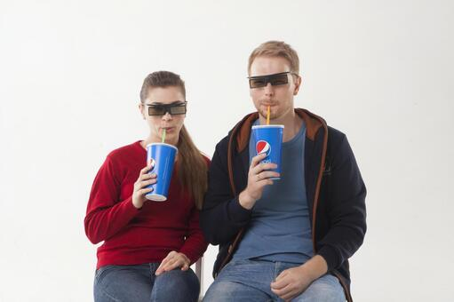 Watch a 3D movie Couple 1