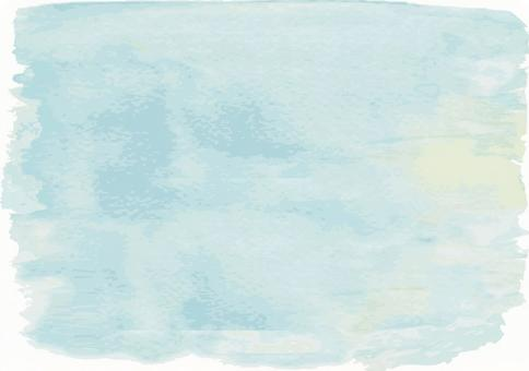 Light blue blue handwriting watercolor analogue decorative frame