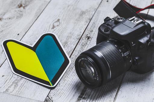 Camera and beginner mark