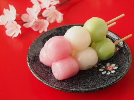Cherry-blossom viewing dumplings