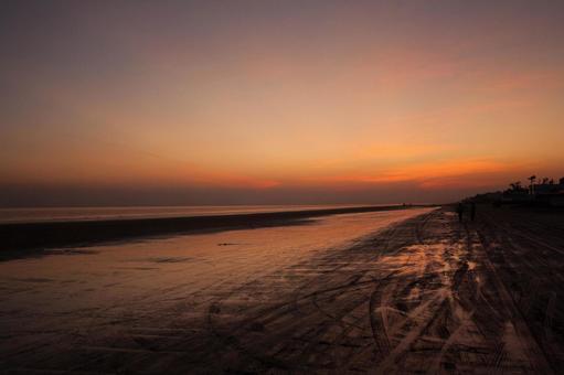 黄昏和彩云国的印度海岸