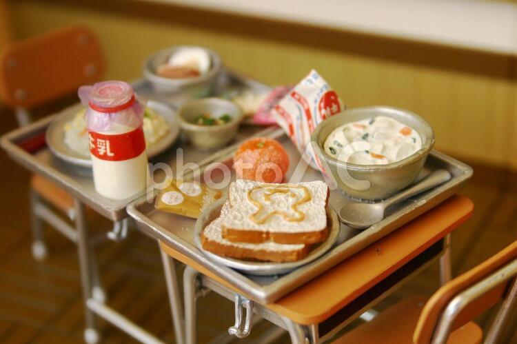 給食の時間の写真