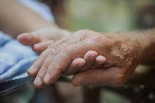 Senior citizen's hand 2